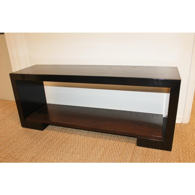21st Century Two-Tone Walnut Custom Bench For Sale - Image 10 of 10