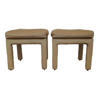 Milo Baughman for Thayer Goggin Parsons Stools - a Pair For Sale
