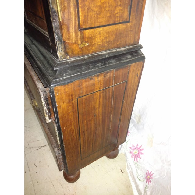 Ebony 1920s Anglo Indian Ebony and Satinwood Cupboard For Sale - Image 7 of 12