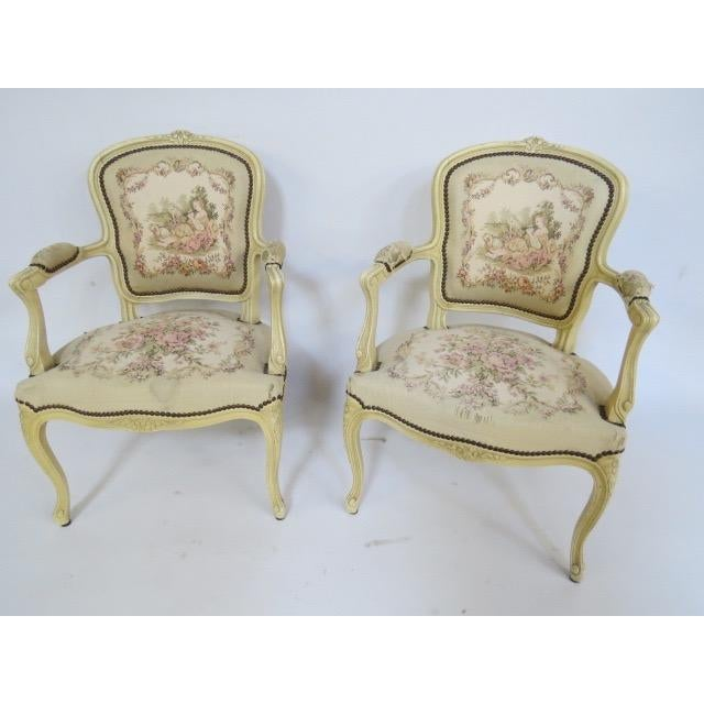 1950's Louis XV Chair For Sale - Image 7 of 9