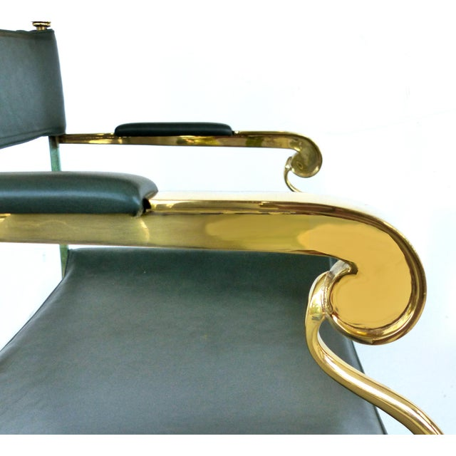 Brass Director's Chairs by Valenti, Spain- 4 Pairs Available For Sale - Image 9 of 11