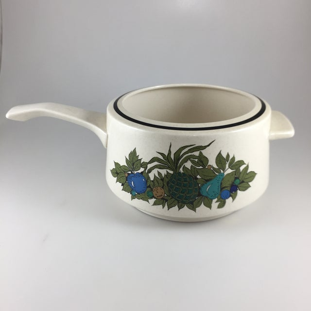 Fall Bounty Stoneware Open Fondue Pot For Sale In Houston - Image 6 of 10