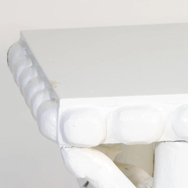 White 1990s White Lacquered Root Console For Sale - Image 8 of 12