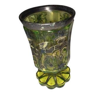 Vintage Renaissance Decor Glass Cup For Sale