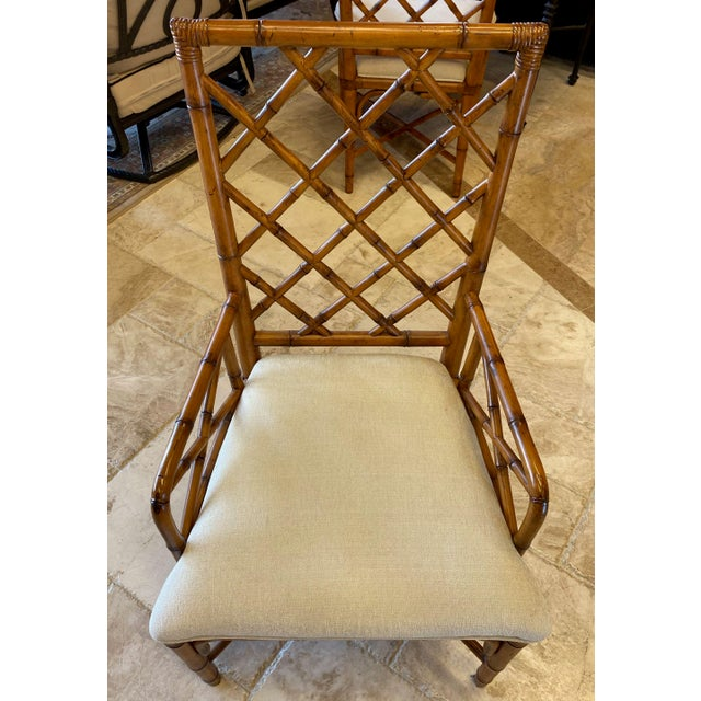 Mid-Century Modern McGuire Style Bamboo Dining Chairs - Set of 8 For Sale - Image 3 of 13