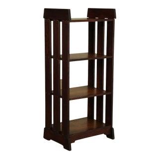 Antique Mission Arts and Crafts Oak 4 Tier Bookshelf For Sale