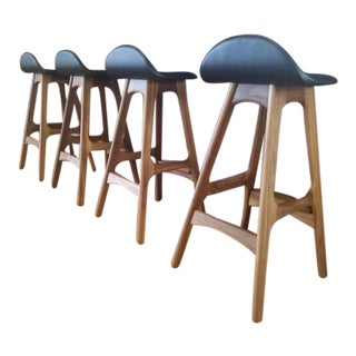 Erik Buch Model 61 Stools - Set of 4 For Sale