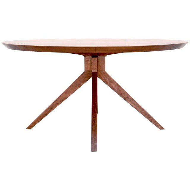 'Sputnik' Dining Table in Solid Walnut, Built to Order by Petersen Antiques For Sale - Image 11 of 11