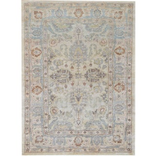 """Mansour Handwoven Wool Agra Rug - 6' X 8'3"""" For Sale"""