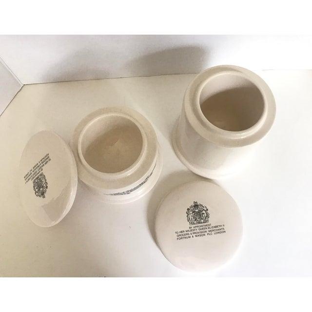 Vintage Fortnum & Mason Lidded Jars - A Pair For Sale - Image 5 of 6