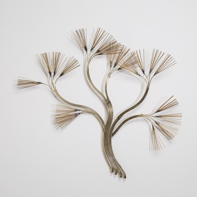 Mid-Century Modern Curtis Jere Branched Tree Metal Wall Sculpture 1988 For Sale - Image 3 of 3