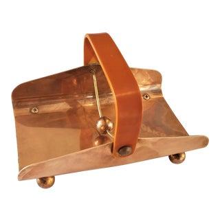 Art Deco Chase Company Copper & Bakelite Napkin Holder For Sale