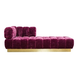 Todd Merrill Custom Originals, Tufted Chaise / Daybed with Removable Back, USA , 2017 For Sale