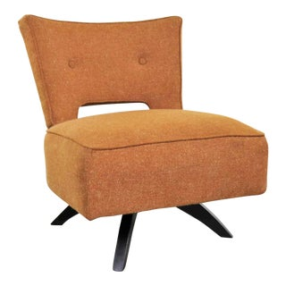 Mid Century Modern Swivel Slipper Chair Attributed to Kroehler Manufacturing For Sale