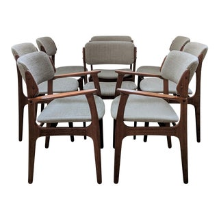 Erik Buch Danish Modern Dining Chairs - Set of 8 For Sale