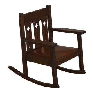Antique Mission Oak Childs Rocker For Sale