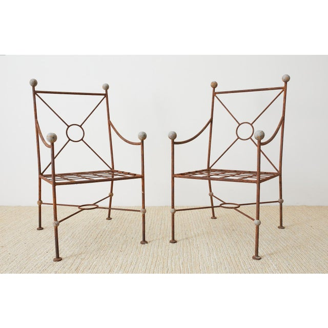 Salterini Set of Six Mario Papperzini for Salterini Style Garden Chairs For Sale - Image 4 of 13