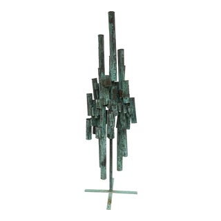Massive Fantoni Style Mid-Century Brutalist Sculpture For Sale