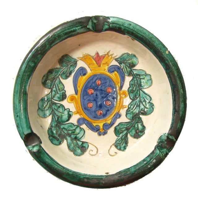 Italian Majolica Ashtray - Image 3 of 4