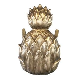 Vintage Brass Napkins Holder Pineapple
