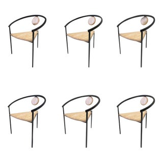 Set of Six Memphis Tripod Dining Chairs in the Manner of Michele De Lucchi For Sale