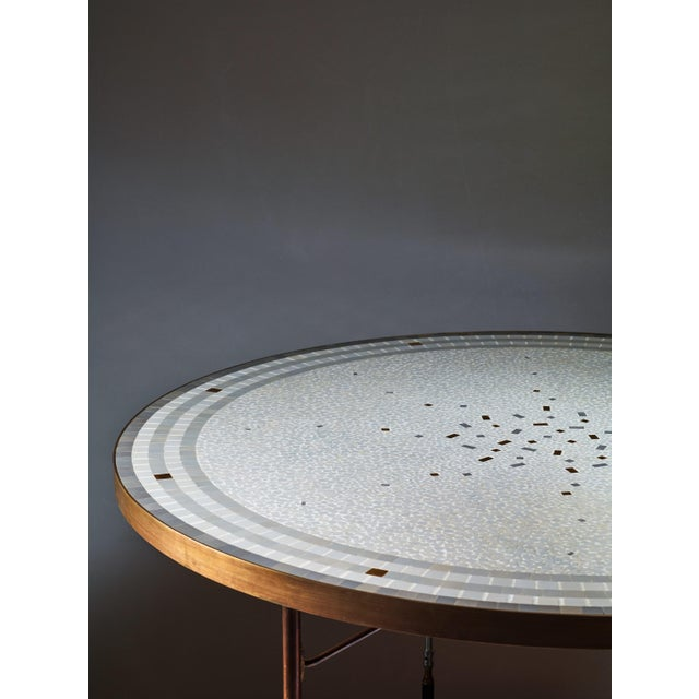 Berthold Muller Round Mosaic Coffee Table, Germany, 1960s - Image 3 of 3