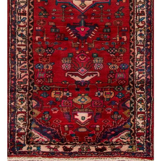 "Apadana - Vintage Persian Hamadan, 3' x 10'4"" - Image 2 of 5"