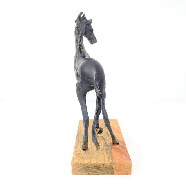 Vintage Mounted Horse Sculpture For Sale In Sacramento - Image 6 of 13