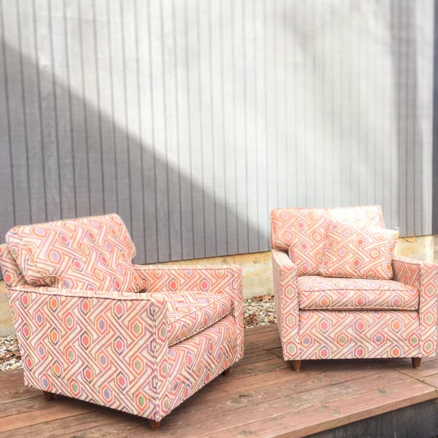 Vintage Mid Century Modern Club Lounge Chairs- A Pair For Sale - Image 10 of 12