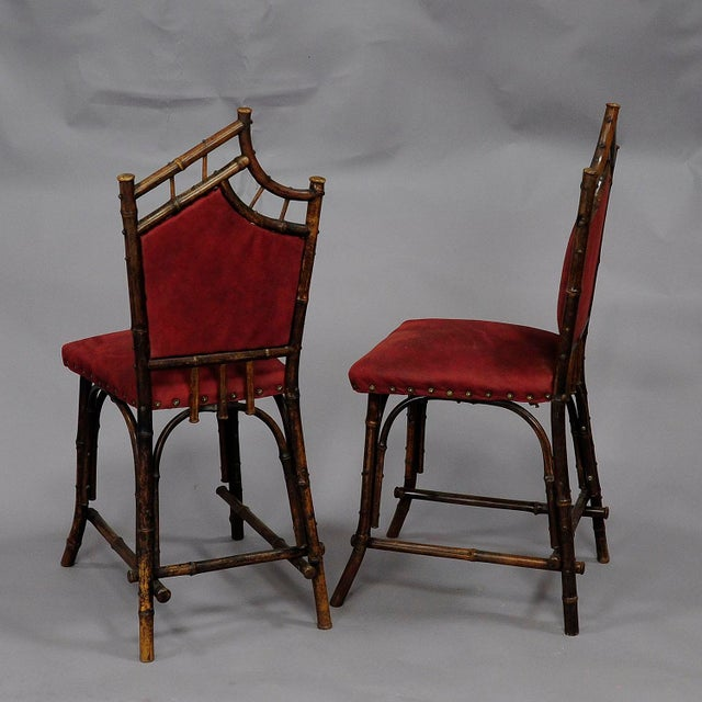 Wood An Asian Inspired Set Of Bamboo Furniture Ca. 1930ties For Sale - Image 7 of 13