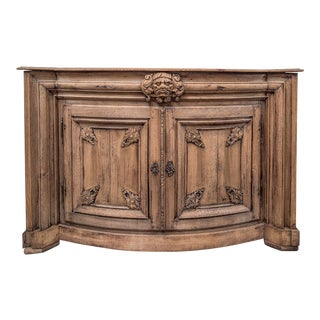 French Antique Bow Front Sideboard