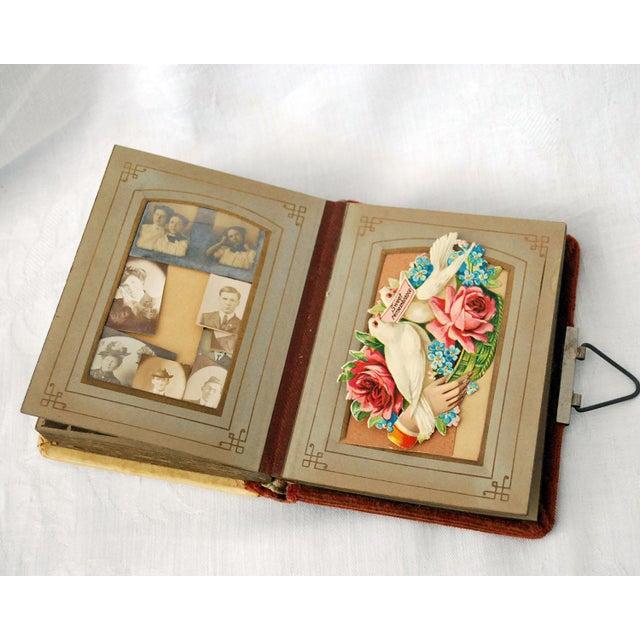 Antique Victorian Photo Album With Die Cut Valentine Calling Cards