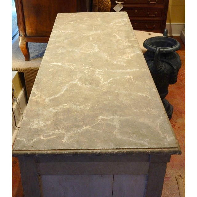 Gray Early 19th Century Italian Painted Buffet For Sale - Image 8 of 10