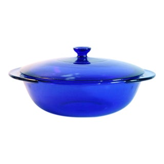 Anchor Hocking Cobalt Blue Glass Serving Dish