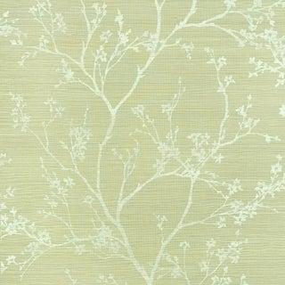 Sample - Schumacher Twiggy Sisal Wallpaper in Fog For Sale