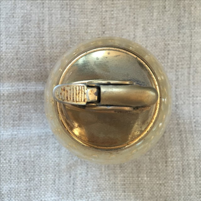 Murano Vintage Murano Glass Gold Lighter For Sale - Image 4 of 7