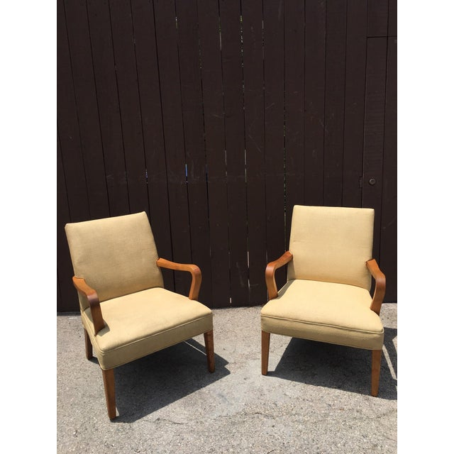 Art Deco Club Chairs - Pair - Image 2 of 10