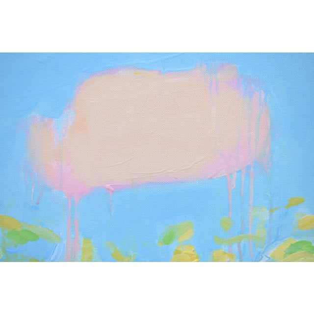 """2010s Contemporary Abstract """"Keep on the Sunny Side"""" Painting by Stephen Remick For Sale - Image 5 of 11"""