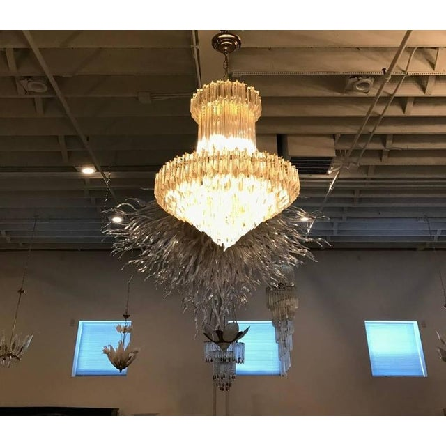 Circa 1970 Camer Mid-Century Italian Murano Glass Chandelier For Sale In New York - Image 6 of 10