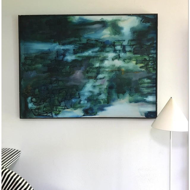 Abstract Mid Century Abstract Expressionist Original Painting Signed 1965 For Sale - Image 3 of 8