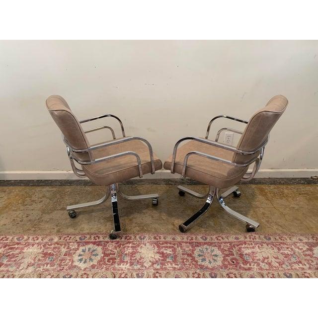 1980s Swivel Rocker Desk Chair For Sale In Los Angeles - Image 6 of 11