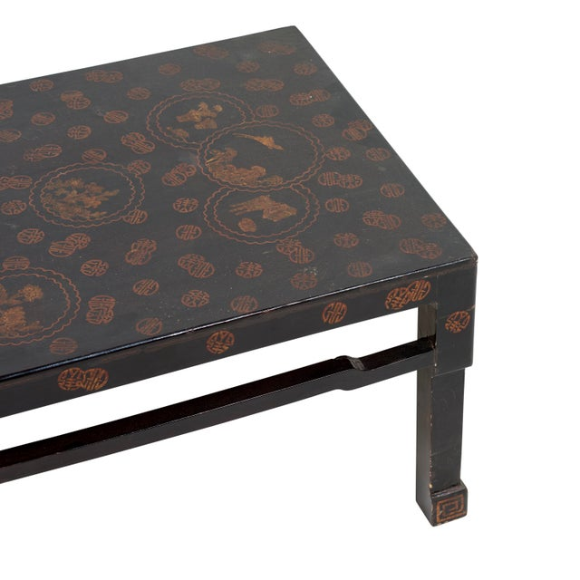 Early 20th Century Chinese Lacquer Coffee Table For Sale In New York - Image 6 of 7