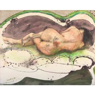 'Mujer Dormida' by Julio Lavallen; 1987 For Sale