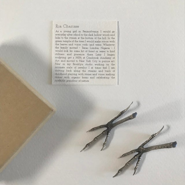2010s Ria Charisse Bird Feet Sculptures - a Pair For Sale - Image 5 of 8