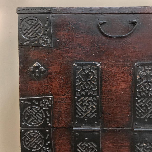Red 19th Century Chinese Cabinet ~ Trunk For Sale - Image 8 of 13