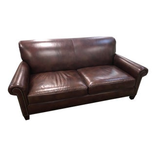 Hancock & Moore Brown Leather Sofa For Sale