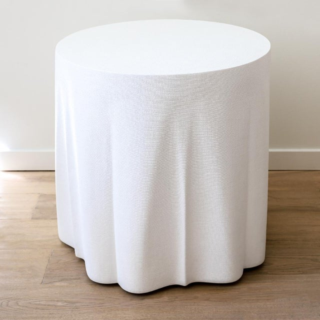 Transitional Made Goods Kipton Draped Table For Sale - Image 3 of 4