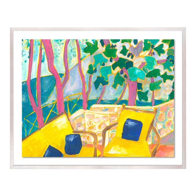 Porto Ercole 3 by Lulu DK in White Wash Framed Paper, Small Art Print For Sale