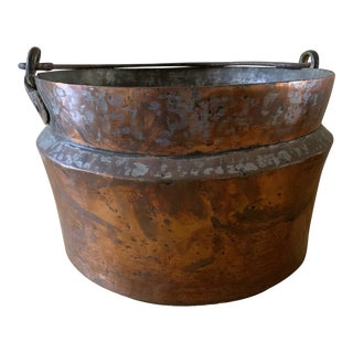 Antique 19th Century Hand Forged Copper Kettle Pot For Sale