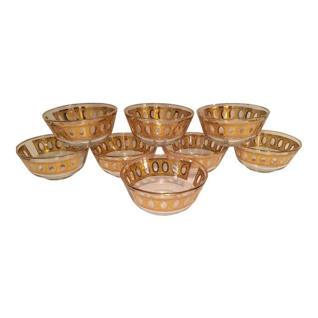 Culver Antigua 22k Gold Dessert Bowls - Set of 8 - Image 1 of 9
